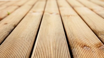 Prepare a deck before staining.