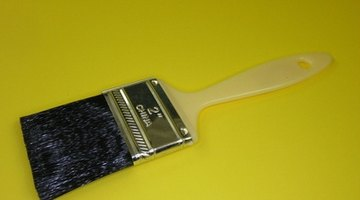 Paint brush used for cutting in