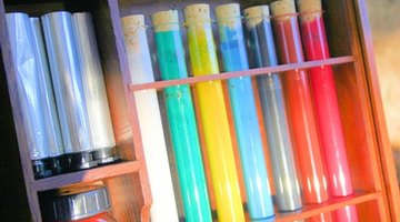 Very bright or fluorescent paints will glow under black light.