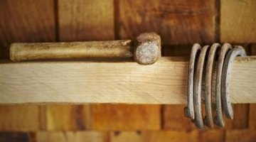 A lump hammer has a short handle for better control.