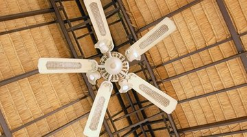 Ceiling fans hung too high will do little to circulate the air 15 or 20 feet below.