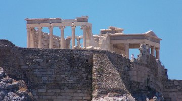 Greek temples on the Acropolis feature some of the most famous pediments.