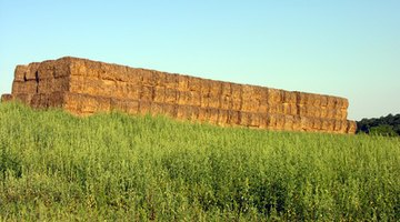 Stacked straw bales offer strength and insulation