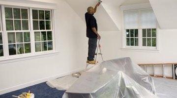 Man remolding bedroom