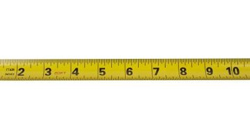 A yardstick will work in the absence of a tape measure.