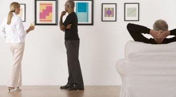 Hanging contemporary art gives your home an instant update.