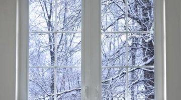 Window blocking winter air