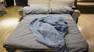 Hidden bed in couch