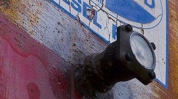 Exhaust pipe of 18 wheeler truck
