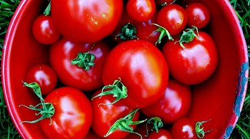 Tomatoes contain lycopene.