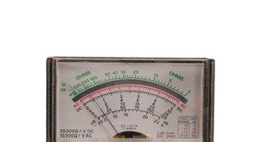 Analogue meter dial with zero calibration wheel