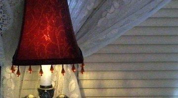 Custom-made lampshades are expensive to buy.