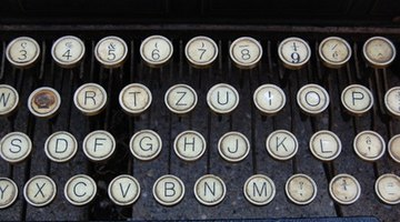 Old typewriters have much charm.