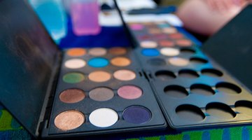 Today, theatrical make-up is applied from compacts and tubes.