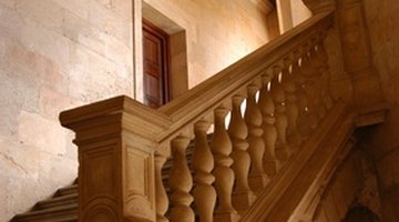 Handrails are supported by newel posts.