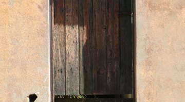 Metal lock on door