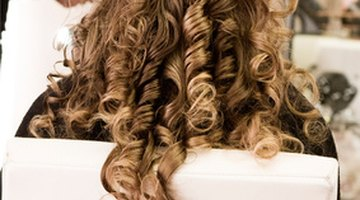 In Victorian times long ringlets were achieved with rags.
