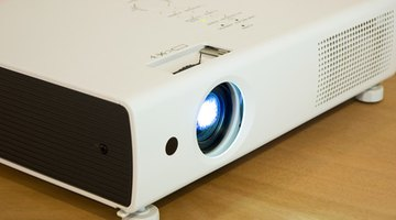 A typical home projector.