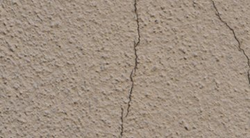 Crack to be filled with grout