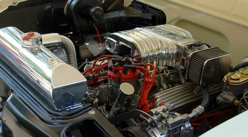 Close up of a car engine