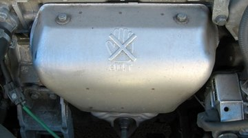 Headlights of vintage car
