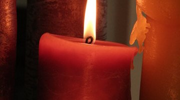 Eucalyptus oil in melted candle wax brings aroma to your home.