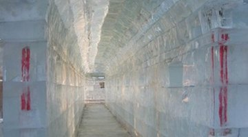 A tunnel entrance traps cold air.
