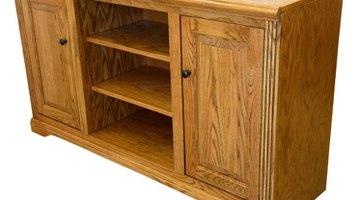 Oak is often used for furniture.