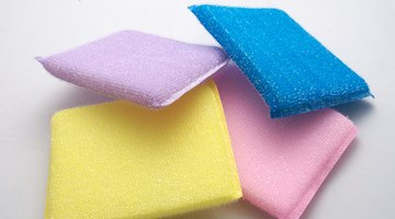 Plastic scrubbers clean without scratching.