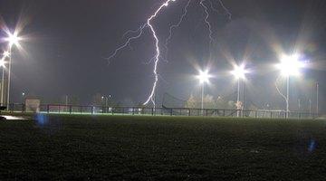 Lightning at a soccer event