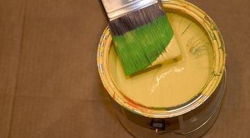 Paint makes a colourful, durable floor.