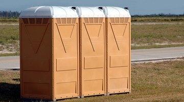 Roadside portable toilets