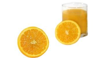 Orange juice has citrus acid which can dissolve calcium phosphates.
