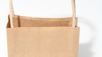 The paper bag helps transfer the stain.