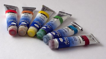 Use acrylic paint to tint sand for a textured finish.