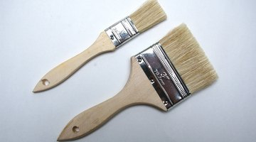 Smaller brushes get into tight areas.