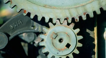 The number of teeth on each gear determines the reduction ratio.