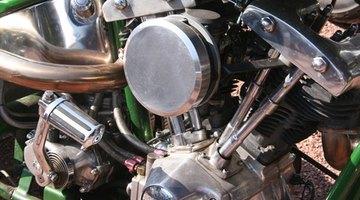 Early model Harley-Davidson V-twin engine