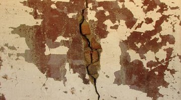 Vertical cracks may form in retaining walls.