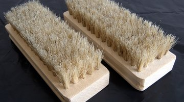 A suede brush is a small brush that helps clean the suede.