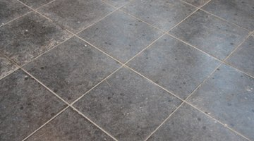 Peel-and-stick vinyl tile is quick and easy.