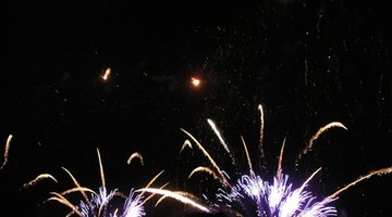Lilac colour of potassium flame test in fireworks.