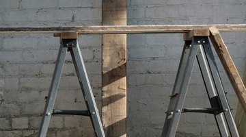 A sawhorse is useful for creating a stable work surface.