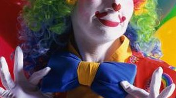 Bright make-up and wigs add to the visual appeal of clowns.