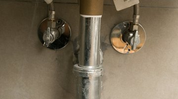 Turn-off valves can usually be found under the sink.