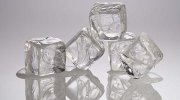 Apply ice cubes to heat rash.