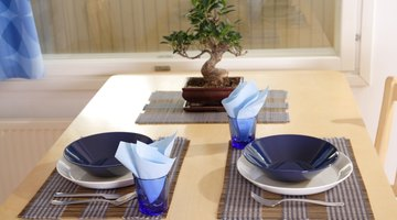 A harmonious set table in the dining area.