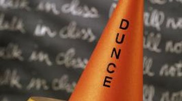 The dunce hat was a humiliation rather than a punishment.