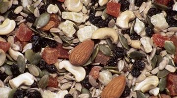 Almonds, raisins and coconut flakes add flavour and texture to this trail mix blend.
