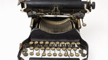 The outdated typewriter was an advancement in the 1950s.